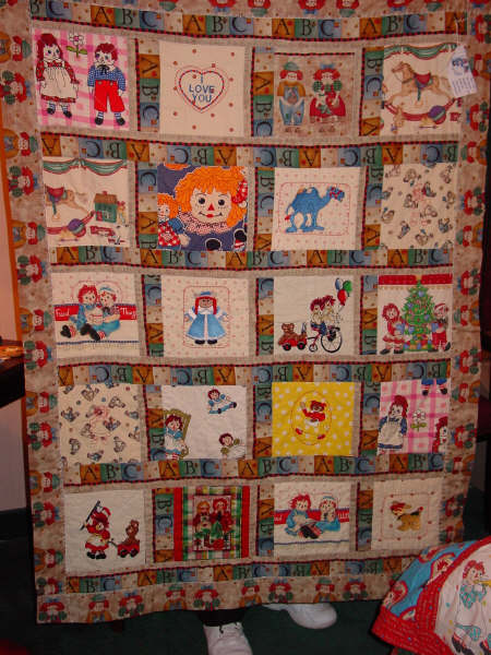 Quilt For Sale ~ Raggedy Festival 2004 ~ Arcola, Illinois