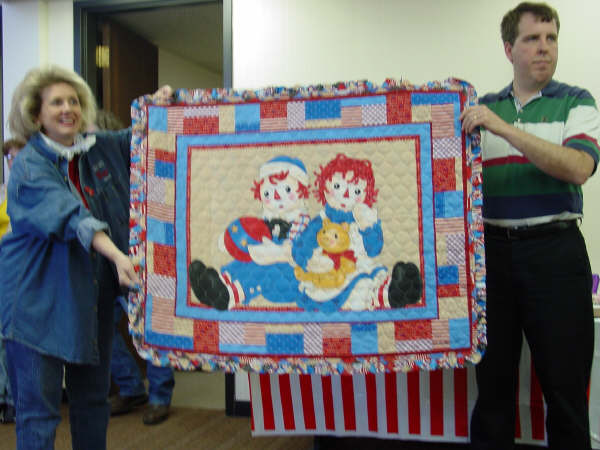 Quilt up for Auction ~ Raggedy Festival 2004 ~ Arcola, Illinois