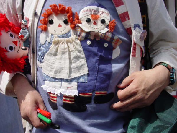 Appliqued shirt  ~   Raggedy Festival 2004 ~ Arcola, Illinois